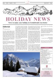 Edition Autumn 2011 - Hotel Belvedere Grindelwald