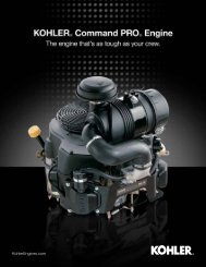 Kohler Command PRO Sell Sheet - Kohler Engines