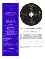 April 7, 2013 Bulletin - St. Joseph Parish