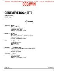GENEVIÈVE ROCHETTE - Agence Goodwin