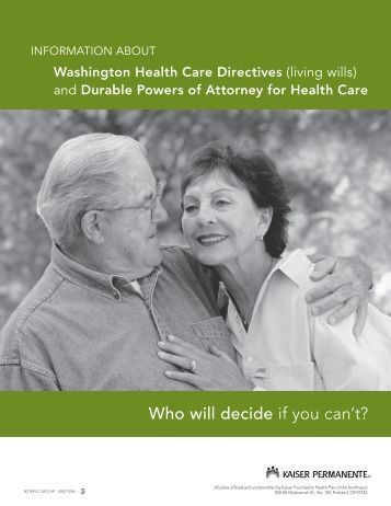 Washington Health Care Directives - Kaiser Permanente Northwest ...