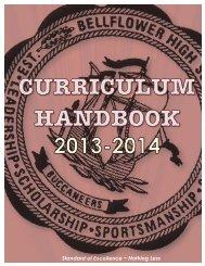 Curriculum Handbook - Bellflower Unified School District