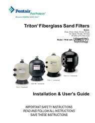 Pentair Triton - Home - Swimming Pool Parts Filters Pumps ...