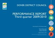 Performance Report 2009 , 3rd quarter - Dover District Council