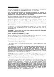 TERMS AND CONDITIONS - Fred Olsen Cruises