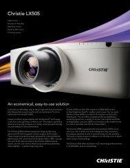 Christie LX505 Brochure - Christie Digital Systems