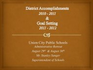 District Accomplishments and Goal Setting - Union City Board of ...