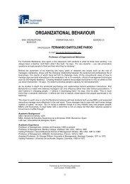 ORGANIZATIONAL BEHAVIOUR - Beyond Grey Pinstripes