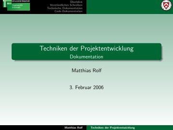 Verständliches Schreiben - Technische Fakultät - Universität Bielefeld