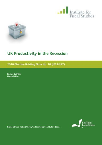 UK Productivity in the Recession