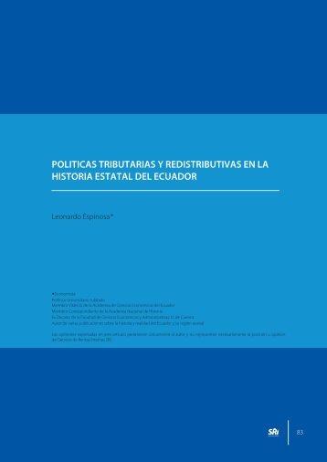 Políticas tributarias y redistribución en la historia estatal - Centro de ...