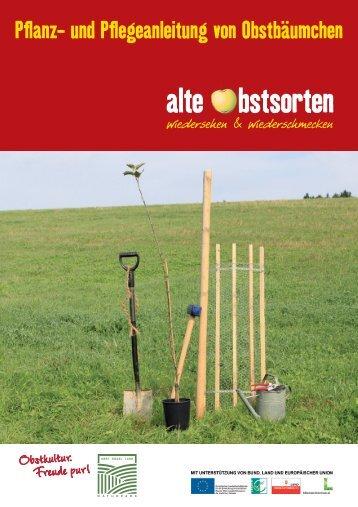 Pflege des Bäumchens - Naturpark Obst-Hügel-Land