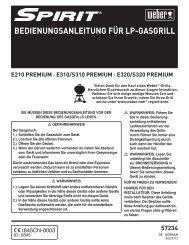 BEDIENUNGSANLEITUNG FÜR LP-GASGRILL - Weber