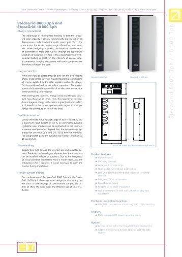 StecaGrid 8000 3ph / 1 0 000 3ph - jms Solar Handel GmbH