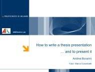 How to write a thesis presentation … and to present it - AIRLab