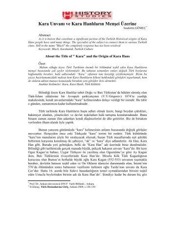 3-Saadettin Gömeç - Türk Tarihi Araştırmaları