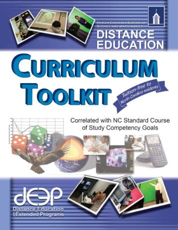 Toolkit - Distance Education @ NCSSM - North Carolina School of ...