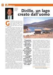 Dirillo, un lago creato dall'uomo; Fornazzo dieci anni dopo