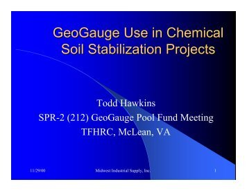 GeoGauge Use in Chemical Soil Stabilization ... - Hanmicorp.net