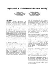Page Quality: In Search of an Unbiased Web Ranking - UCLA ...