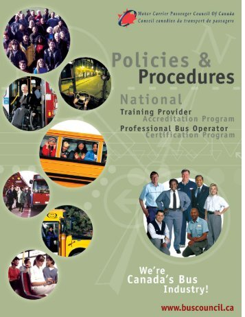 Policies and Procedures - Motor Carrier Passenger Council of Canada