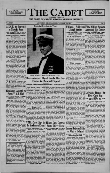 1931 March 30 - New Page 1 [www2.vmi.edu] - Virginia Military ...
