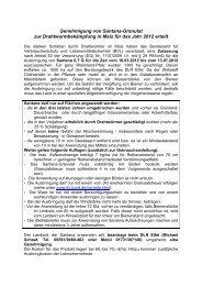 Genehmigung von Santana-Granulat - Obstbau - Rheinland-Pfalz