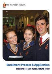 Enrolment Process & Application - The Peninsula School