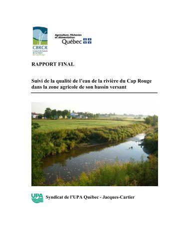 RAPPORT FINAL Suivi de la qualité de l'eau de la rivière du Cap ...