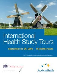 Netherlands Tour Itinerary - AcademyHealth