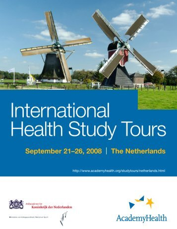 Netherlands Tour Itinerary - AcademyHealth