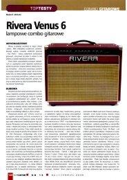 Rivera Venus 6 test TopGuitar lipiec/sierpień 2008 FX-Music Group