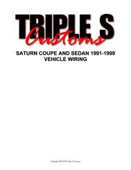 saturn coupe and sedan 1991-1999 vehicle wiring - AlarmSellout