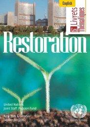 UNJSPF Brochure - Restoration - SAS