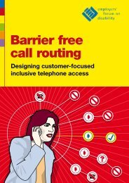 Barrier free call routing - CallNorthWest