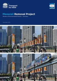 Monorail Removal Project - REF Summary (pdf) - Transport for NSW ...