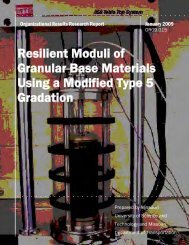 Resilient Moduli of Granular Base Materials Using a Modified Type 5 ...
