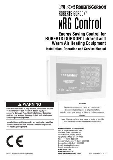 X235 nrg control manual. Book.