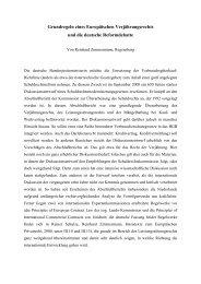 Grundregeln eines Europäischen Verjährungsrechts und die ...