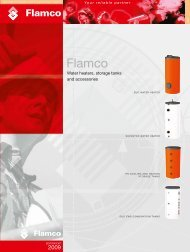 WATER HEATERS, STORAGE TANKS [2.1 MByte/pdf] - Flamco Group