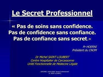 Le Secret Professionnel - sofomec