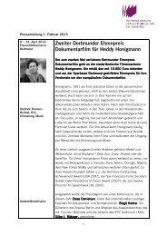 Zweiter Dortmunder Ehrenpreis Dokumentarfilm für Heddy Honigmann