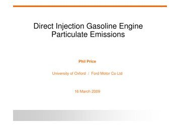 Direct Injection Gasoline Engine Particulate Emissions - Cambridge ...