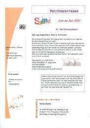 Nieuwsbrief juni en juli 2012