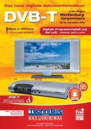 DVB-T in Mecklenburg-Vorpommern
