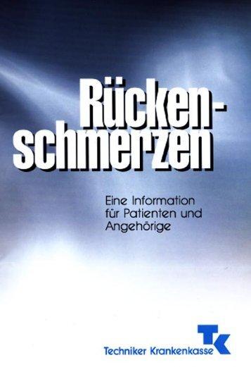 Rückenschmerzen - QMG - Qualität und Management im ...