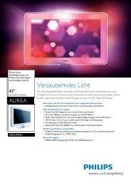 42PFL9903H/10 Philips Flachbildfernseher mit ... - Floimair Electronics