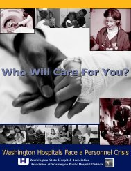 Who Will Care For You? - Washington State Hospital Association