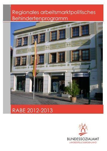 (RABE) 2012-2013 Burgenland - Bundessozialamt