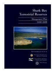 shark bay terrestrial reserves management plan - Department of ...